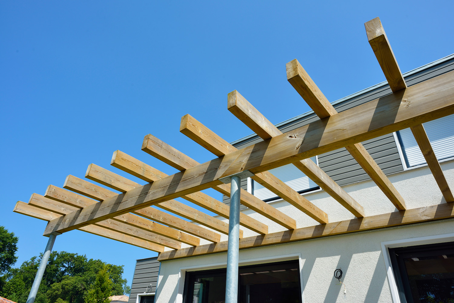 Amenagement pergola exterieur for Exterieur terrasse bois